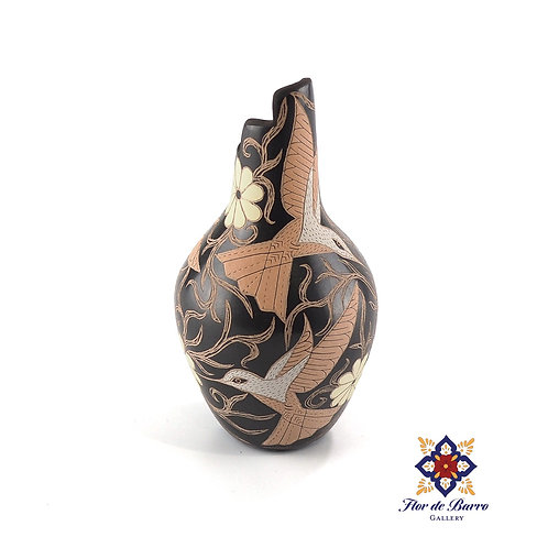 Elicena Cota: Blush Hummingbirds Vase