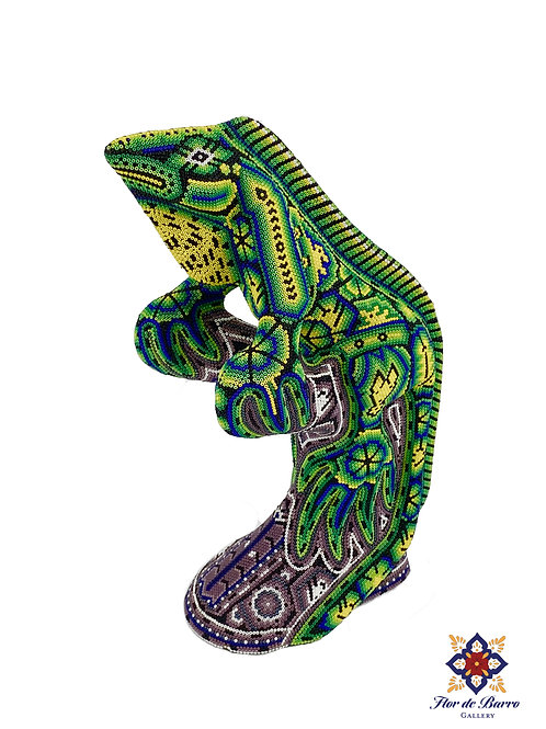 Wixarika Art: Iguana