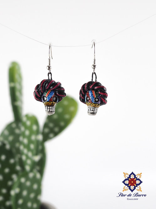 Leonardo Isidoro Cruz: Catrina Frida Earrings
