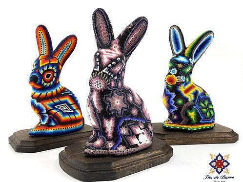 Wixarika: Beaded Rabbits