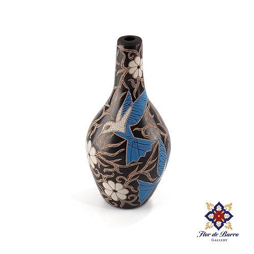Elicena Cota: Blue Hummingbirds Vase