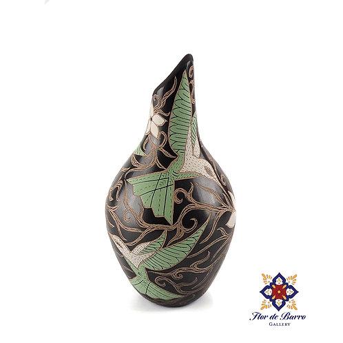 Elicena Cota: Mint Hummingbirds Vase