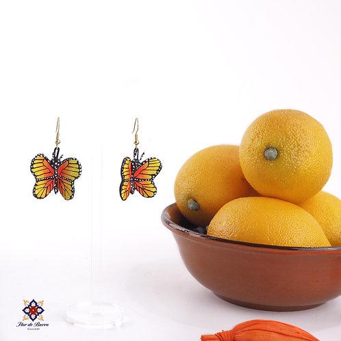 Leonardo Isidoro Cruz: Monarch Butterfly Earrings