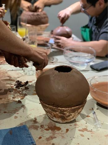 Mata Ortiz pottery class.