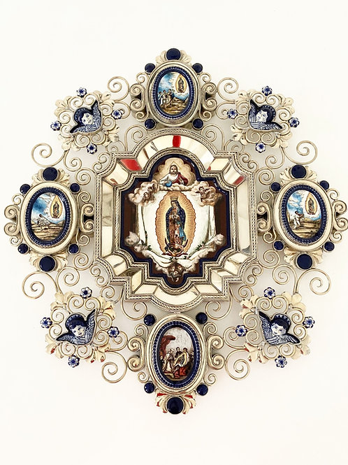 Virgen de Guadalupe with Apparitions by Jesus Guerrero Santos