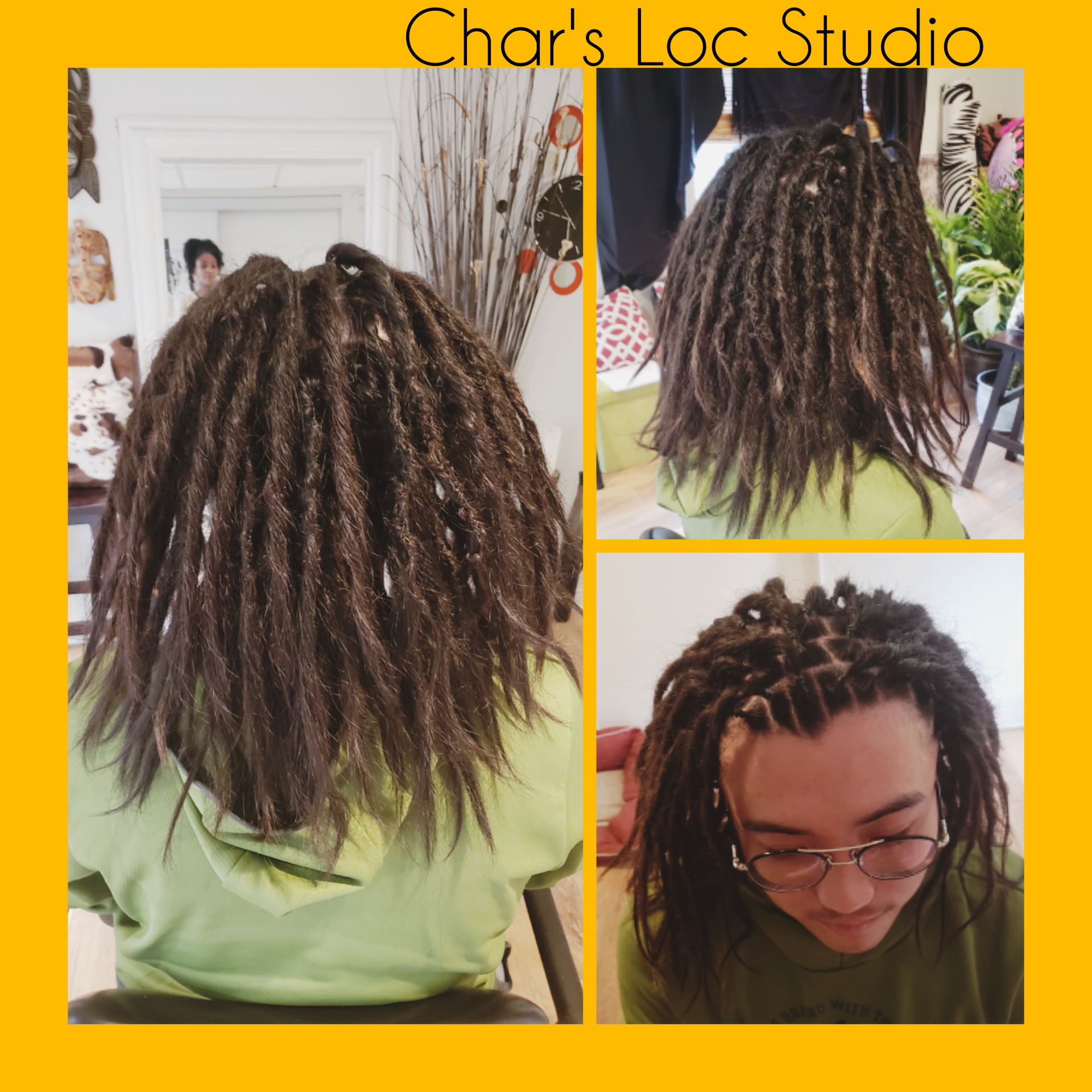 Dreadlock installation on Asian hair