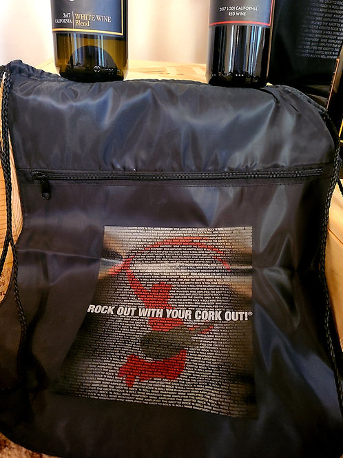 Rock Out With Your Cork Out Drawstring Bag