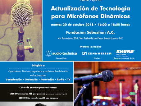 Evento especial AES México, octubre  2018 🎧