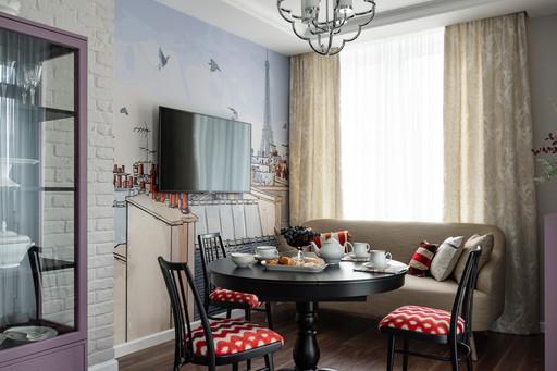 кухня с фреской