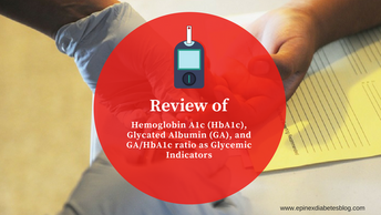Review of hemoglobin A1c (HbA1c), glycated albumin (GA), and GA/HbA1c ratio as glycemic indicators