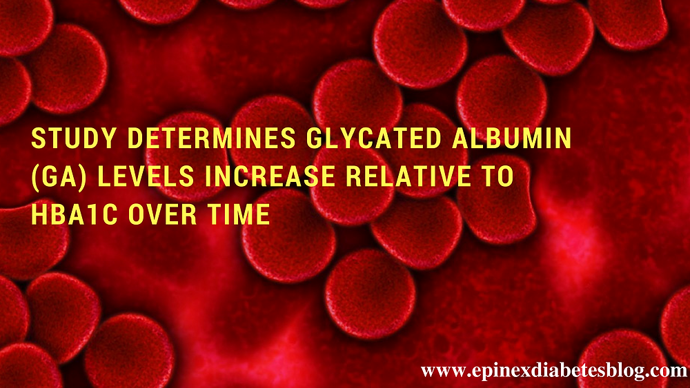 Study Determines Glycated Albumin (GA) Levels Increase Relative to HbA1c Over Time  www.epinex.com