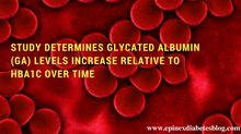 """Study Determines Glycated Albumin (GA) Levels Increase Relative to HbA1c Over Time"""