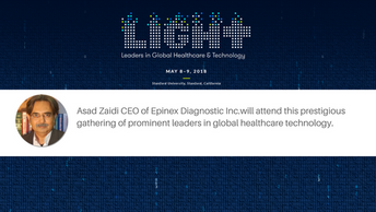 Asad Zaidi CEO of Epinex Diagnostic Inc. will attend LIGHT Forum 2018, a prestigious gathering of  p