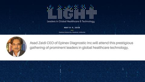 Asad Zaidi CEO of Epinex Diagnostic Inc. will attend LIGHT Forum 2018, a prestigious gathering of  p