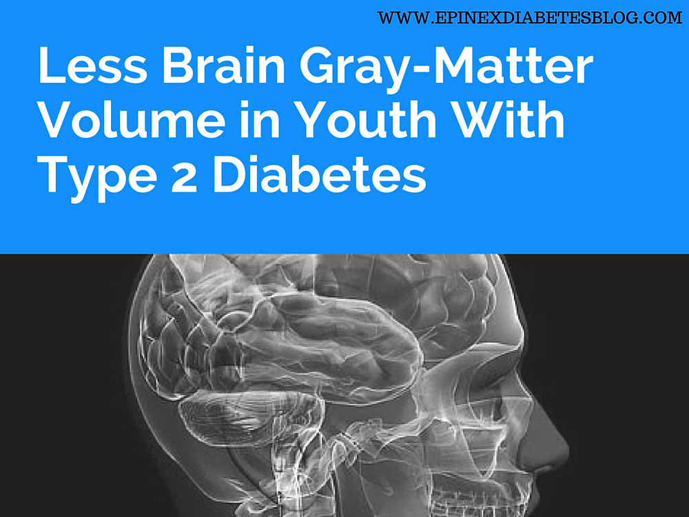Less Brain Gray-Matter Volume in Youth With Type 2 Diabetes