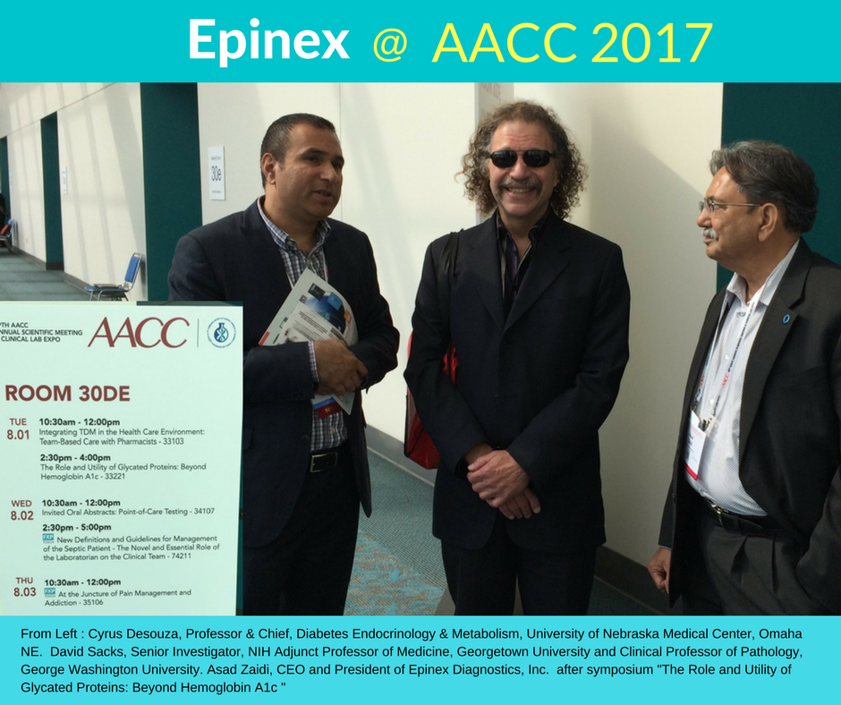 Epinex at the 2017 AACC Conference