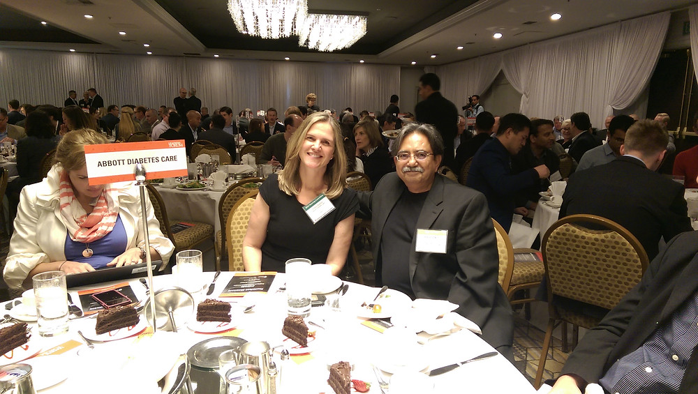 Asad Zaidi (CEO Epinex Diagnostics, Inc) with Abbot Team 2015 Silicon Valley Leaders Forum HealthTech Showcase.