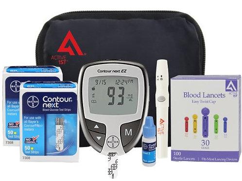 Diabetes Testing Kit (Bayer Contour NEXT EZ Meter