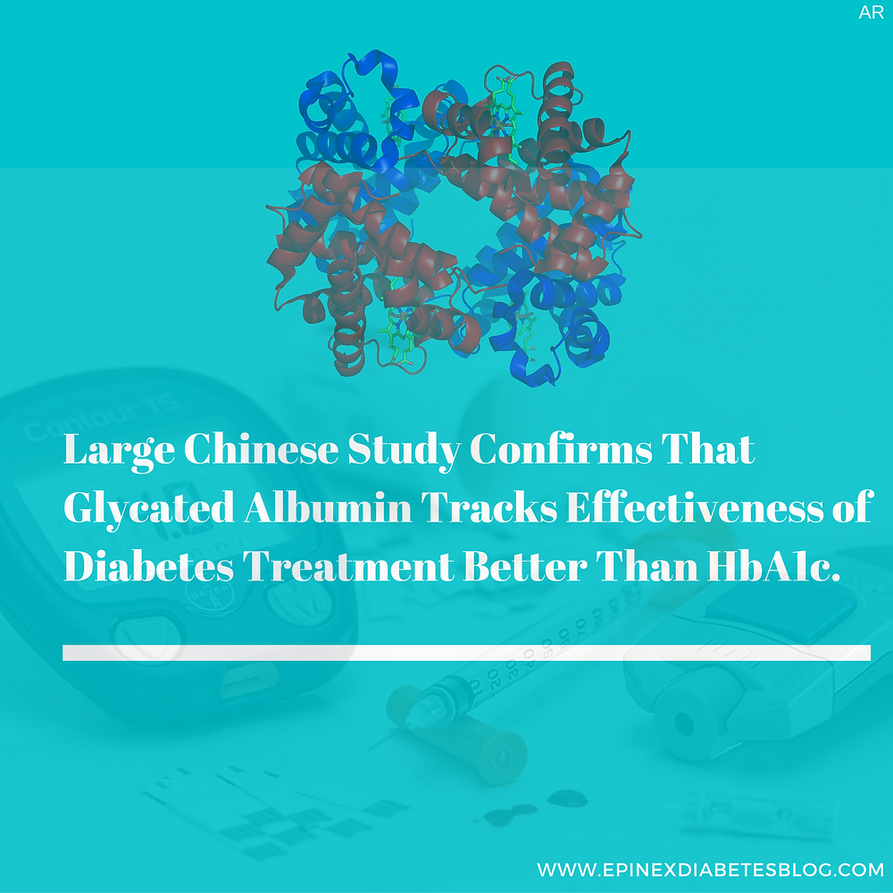 Large Chinese Study Confirms That Glycated Albumin Tracks Effectiveness of Diabetes Treatment Better Than HbA1c.  www.epinex.com