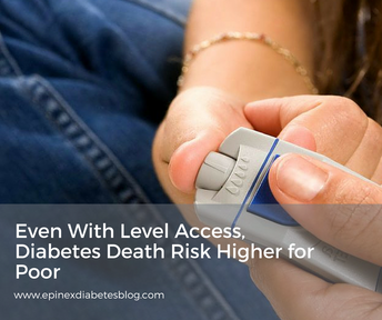 Even With Level Access, Diabetes Death Risk Higher for Poor- Source: Medscape