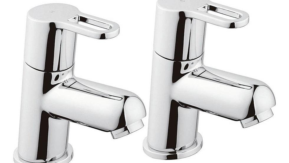 Bristan Jive Bath Pillar Taps Chrome