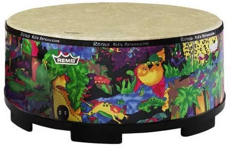 Large Remo drum for children with colorful design