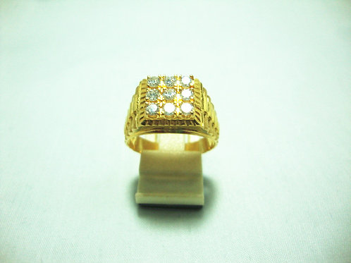 20K GOLD DIA RING 9/72P
