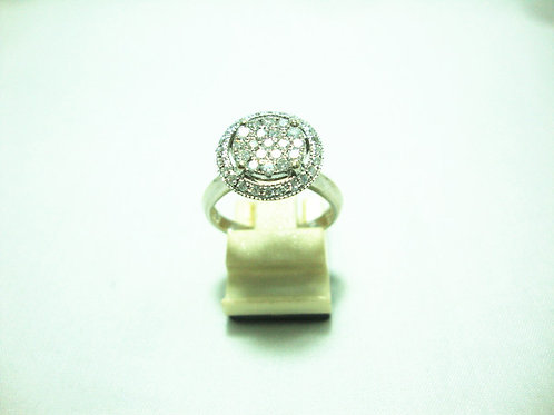 9K WHITE GOLD DIA RING 19/38P 40/40P