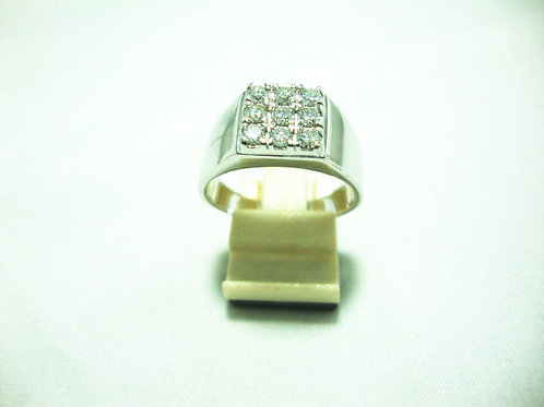 18K WHITE GOLD DIA RING 9/72P