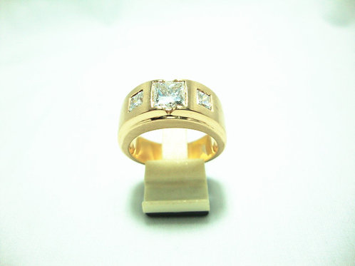 18K GOLD DIA RING 1/168P 2/80P