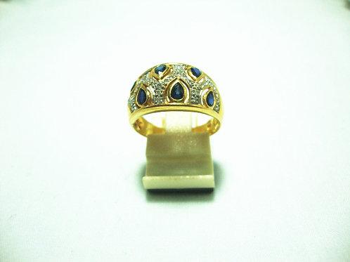 18K GOLD DIA SAPPHIRE RING 35/35P