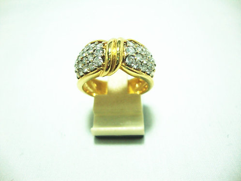 18K GOLD DIA RING 40/200P