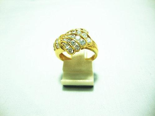 18K GOLD DIA RING 130P