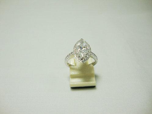 18K WHITE GOLD DIA RING 1/200P 28/84P