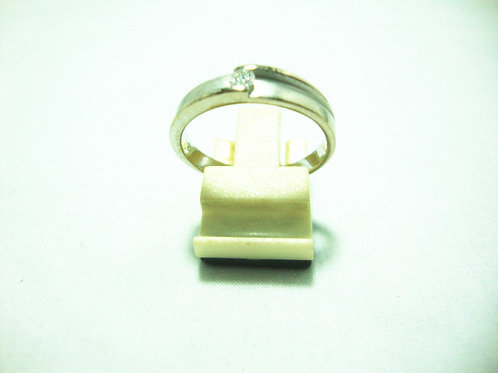 18K WHITE GOLD DIA RING 1/9P