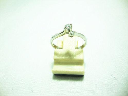 18K WHITE GOLD DIA RING 1/8P 1/3P