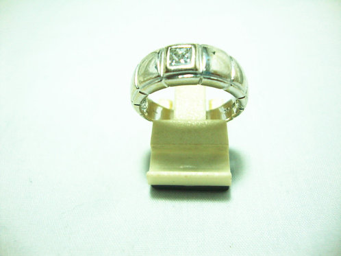 18K WHITE GOLD DIA RING 1/25P