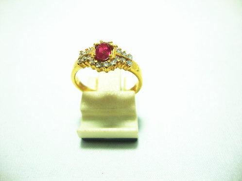 20K GOLD DIA RUBY RING 20/40P