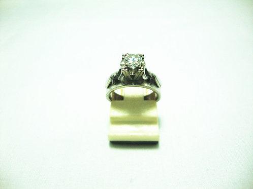 18K WHITE GOLD DIA RING 1/33P