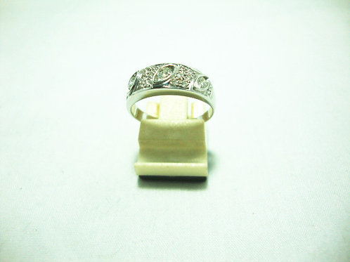18K WHITE GOLD DIA RING 3/24P 16/8P