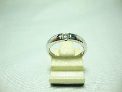 18K WHITE GOLD DIA RING 1/15P