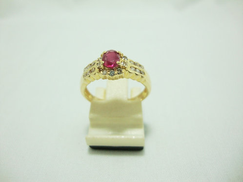 18K GOLD DIA RUBY RING 26/52P