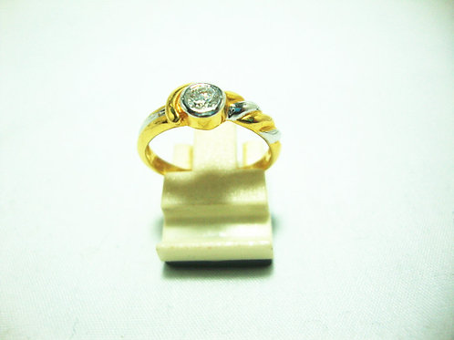 20K GOLD DIA RING 1/25P