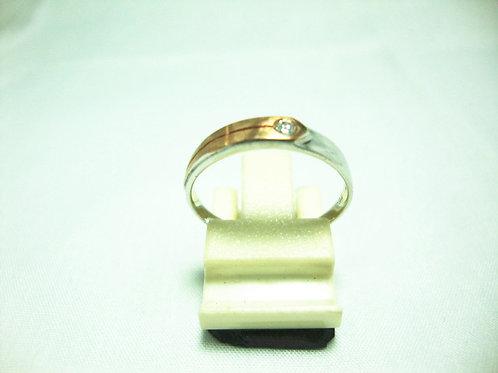 18K WHITE GOLD DIA RING 1/4P