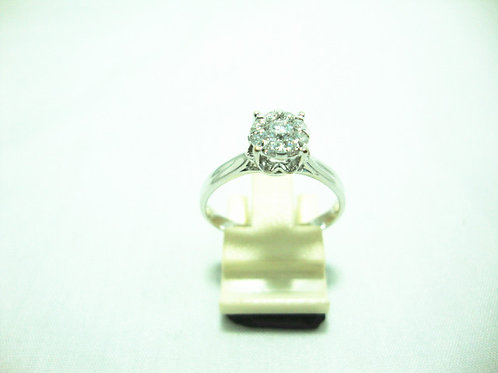 18K WHITE GOLD DIA RING 1/10P 8/24P