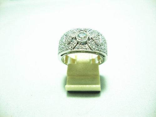 18K WHITE GOLD DIA RING 1/25P 46/46P