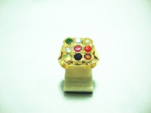 916 GOLD DIA STONE RING1/10P