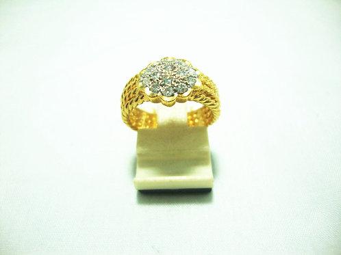 20K GOLD DIA RING 14/42P