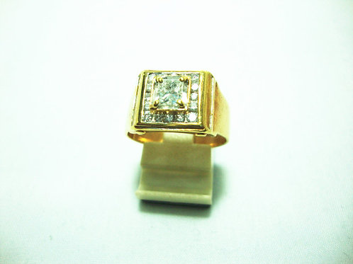 18K GOLD DIA RING  1/48P 16/32P