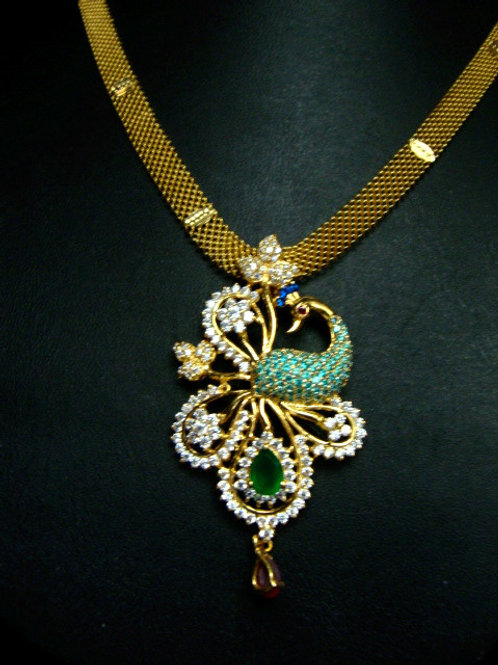 916 GOLD STONE NECKLACE